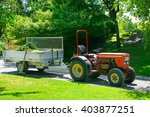 Wheeled Tractor Trailer In The...