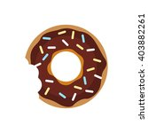 sugar donut with chocolate...   Shutterstock .eps vector #403882261