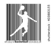 basketball player in the style... | Shutterstock .eps vector #403883155