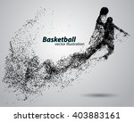 basketball particles. text and... | Shutterstock .eps vector #403883161