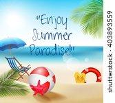 holiday on beach summer.vector | Shutterstock .eps vector #403893559