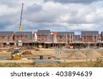 newly built homes in a... | Shutterstock . vector #403894639