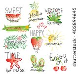 vector summer card with sweet... | Shutterstock .eps vector #403894645