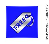 free tag button isolated  | Shutterstock . vector #403895419