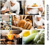 collage on culinary theme...   Shutterstock . vector #403895539