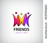 vector colorful 3 men logo ... | Shutterstock .eps vector #403900681