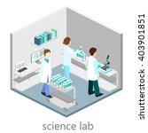 isometric interior of science... | Shutterstock .eps vector #403901851