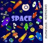 space line art design raster... | Shutterstock . vector #403902445