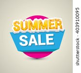 vector hot summer sale sticker .... | Shutterstock .eps vector #403910095