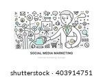 illustration of building social ... | Shutterstock .eps vector #403914751