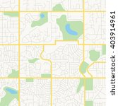 vector streets of a city   map | Shutterstock .eps vector #403914961