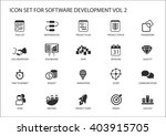 software development icon set.... | Shutterstock .eps vector #403915705
