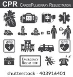 cpr   cardiopulmonary... | Shutterstock .eps vector #403916401