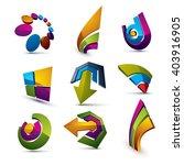 geometric abstract vector... | Shutterstock .eps vector #403916905