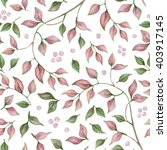watercolor floral seamless... | Shutterstock . vector #403917145
