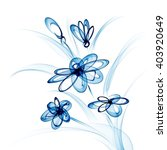 blue bouquet of daisies. vector ... | Shutterstock .eps vector #403920649