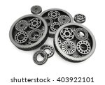 gears aluminium isolated on... | Shutterstock . vector #403922101