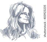 vector portrait of attractive... | Shutterstock .eps vector #403923235
