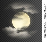 realistic deatailed full moon... | Shutterstock .eps vector #403925287