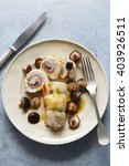 chicken breast stuffed with... | Shutterstock . vector #403926511