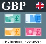 colorful pound sterling... | Shutterstock .eps vector #403929067