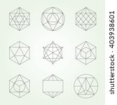 sacred geometry vector set.... | Shutterstock .eps vector #403938601