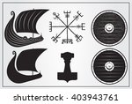 viking set of design elements.... | Shutterstock .eps vector #403943761