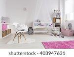 Shot Of A Cosy Nursery Room Fo...