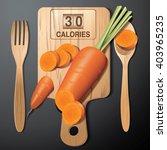 vector of calories in carrot on ... | Shutterstock .eps vector #403965235