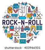 premium quality rock'n'roll... | Shutterstock .eps vector #403966501