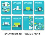 home appliances cards set.... | Shutterstock .eps vector #403967545