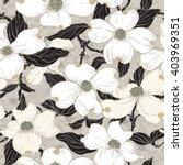 dogwood seamless pattern. hand... | Shutterstock .eps vector #403969351