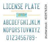license plate  2   typeface... | Shutterstock .eps vector #403976524