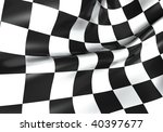 texture of racing checkered... | Shutterstock . vector #40397677