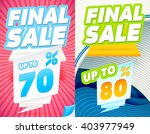 final sale banners. final sale... | Shutterstock .eps vector #403977949