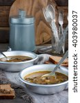 mushroom vegetarian soup with...