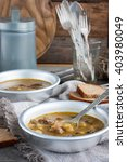 mushroom vegetarian soup with...