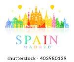 spain  madrid travel landmarks. ... | Shutterstock .eps vector #403980139