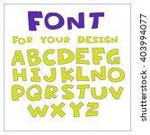 hand drawn font. vector... | Shutterstock .eps vector #403994077