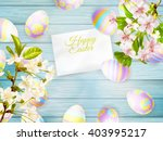 happy easter greeting card. a... | Shutterstock .eps vector #403995217