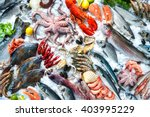 Seafood On Ice At The Fish...