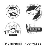 vintage vector theatre labels ... | Shutterstock .eps vector #403996561
