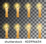 cartoon candle with fire... | Shutterstock .eps vector #403996654