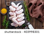 raw chicken wings | Shutterstock . vector #403998301