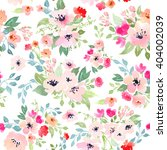 watercolor floral botanical...   Shutterstock . vector #404002039