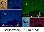 islamic backgrounds set for... | Shutterstock .eps vector #404008234