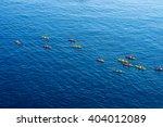 top view of kayaking in the... | Shutterstock . vector #404012089