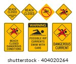 beach closed signs | Shutterstock .eps vector #404020264