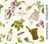 vector herbal cosmetics... | Shutterstock .eps vector #404021899