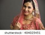 beautiful indian woman in... | Shutterstock . vector #404025451